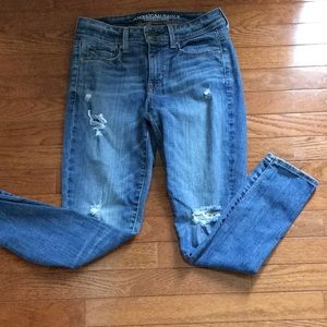 American Eagle Super Skinny Distressed Jeans